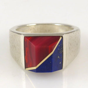 Rosarita and Lapis Ring - Jewelry - Duane Maktima - 1