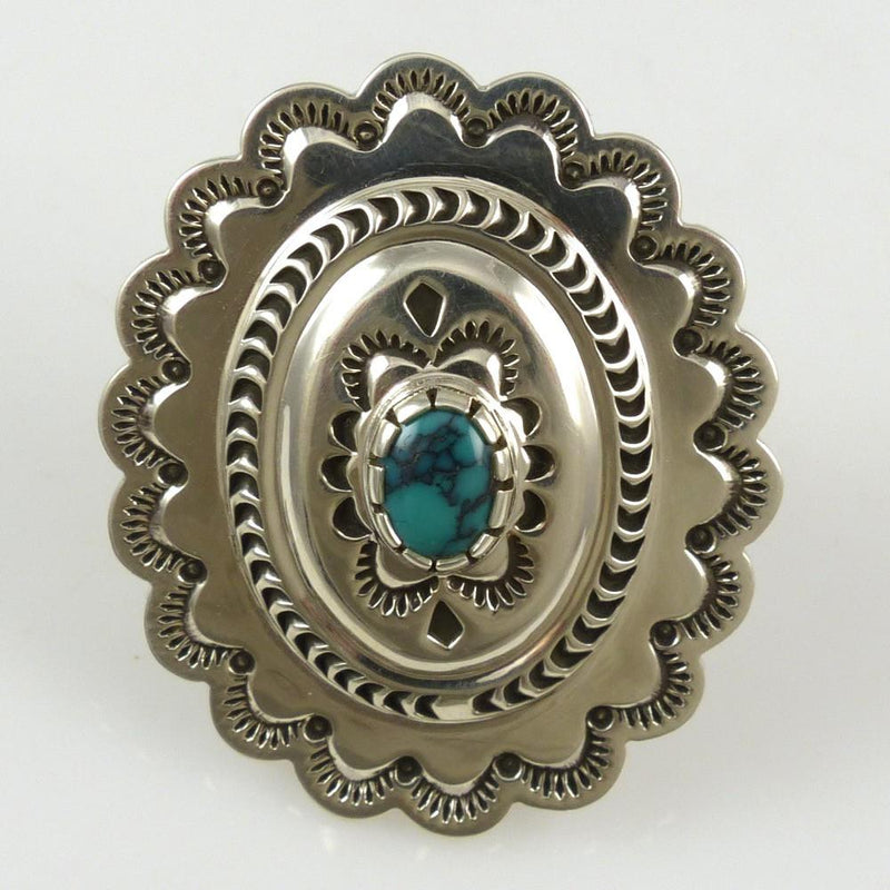 Turquoise Concha Ring - Jewelry - Fidel Bahe - 2