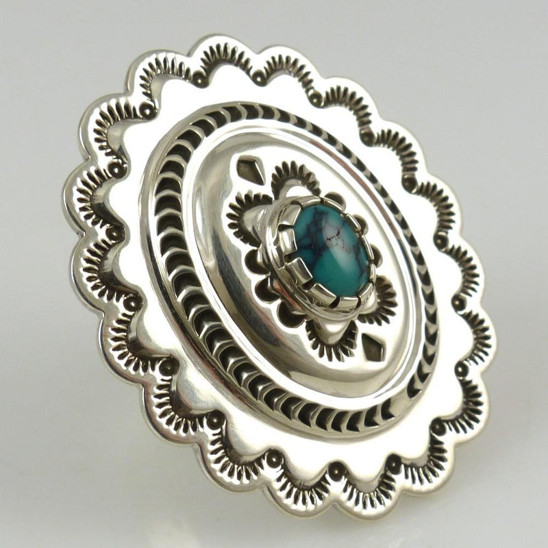 Turquoise Concha Ring - Jewelry - Fidel Bahe - 1