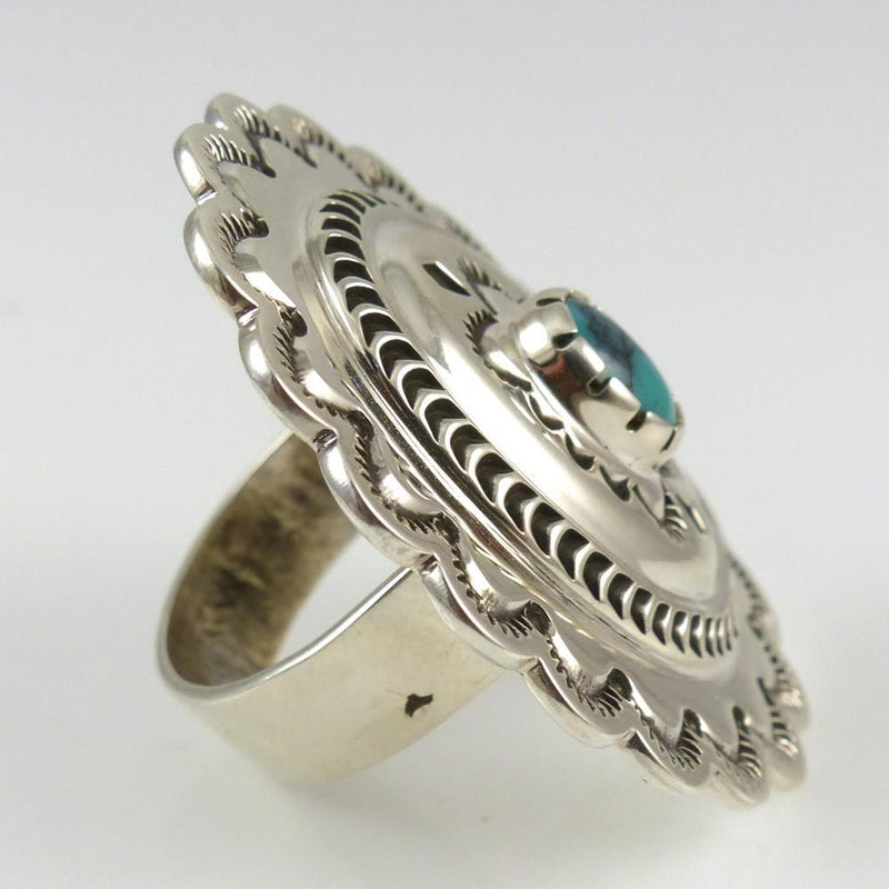 Turquoise Concha Ring - Jewelry - Fidel Bahe - 3