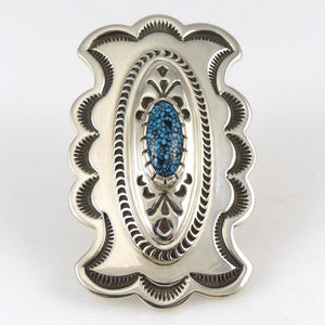 Kingman Turquoise Concho Ring - Jewelry - Fidel Bahe - 1