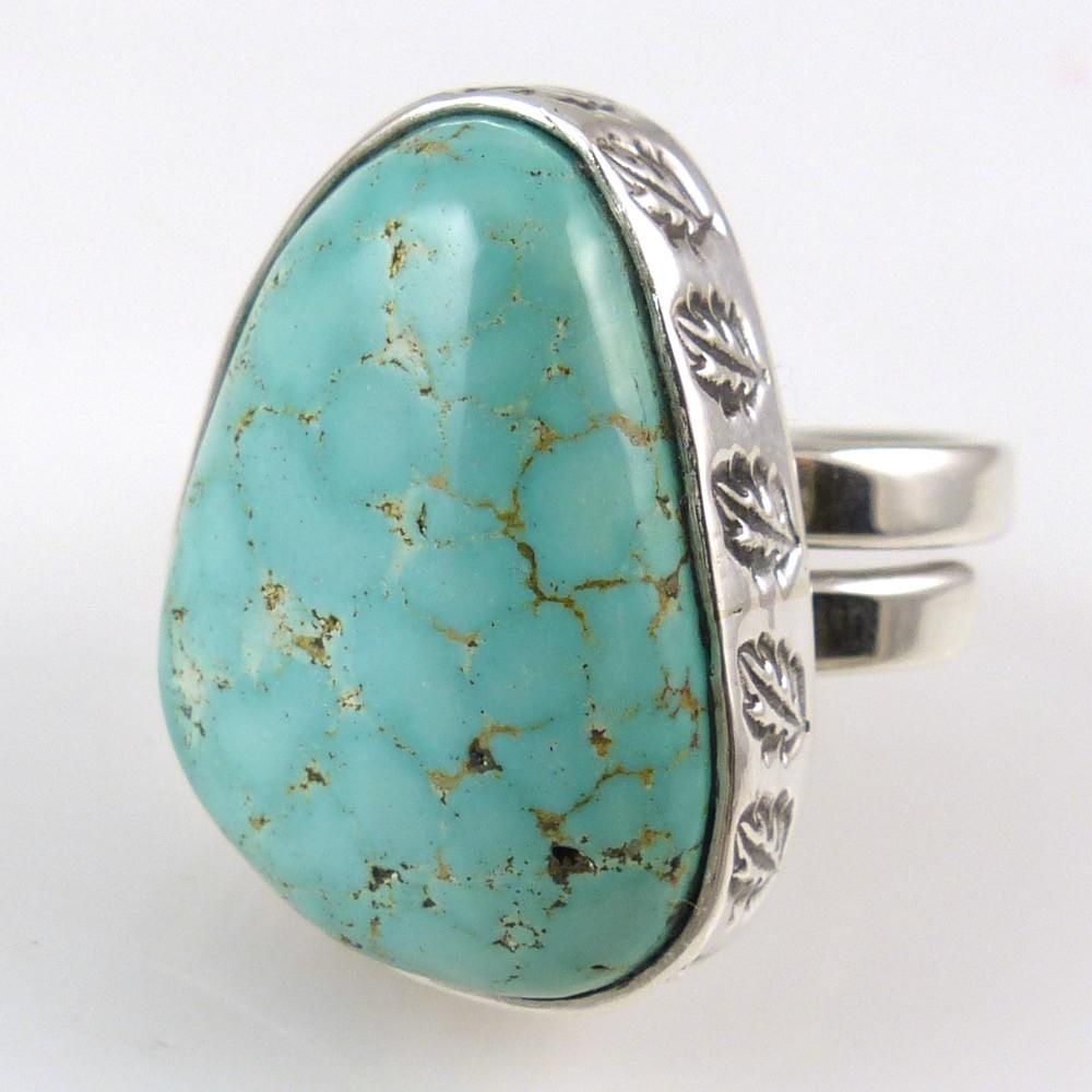 Carico Lake Turquoise Ring - Jewelry - Steven Yellowhorse - 1