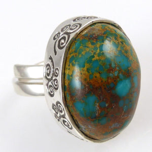 Royston Turquoise Ring - Jewelry - Steven Yellowhorse - 1