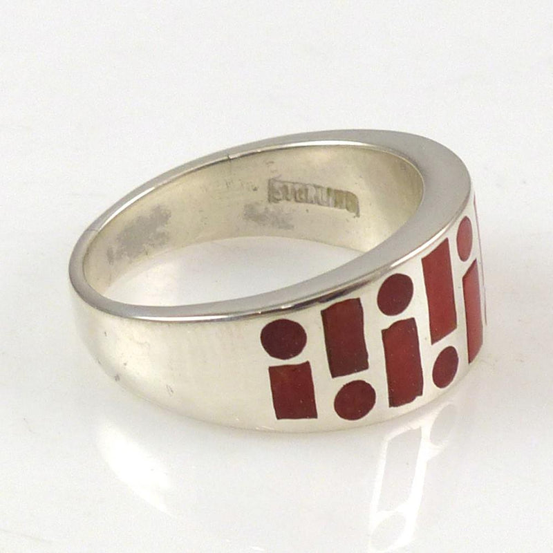 Coral Code Talker Ring - Jewelry - Tim Charley - 3