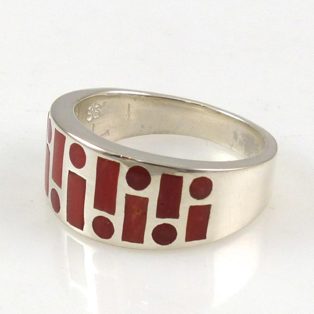 Coral Code Talker Ring - Jewelry - Tim Charley - 1
