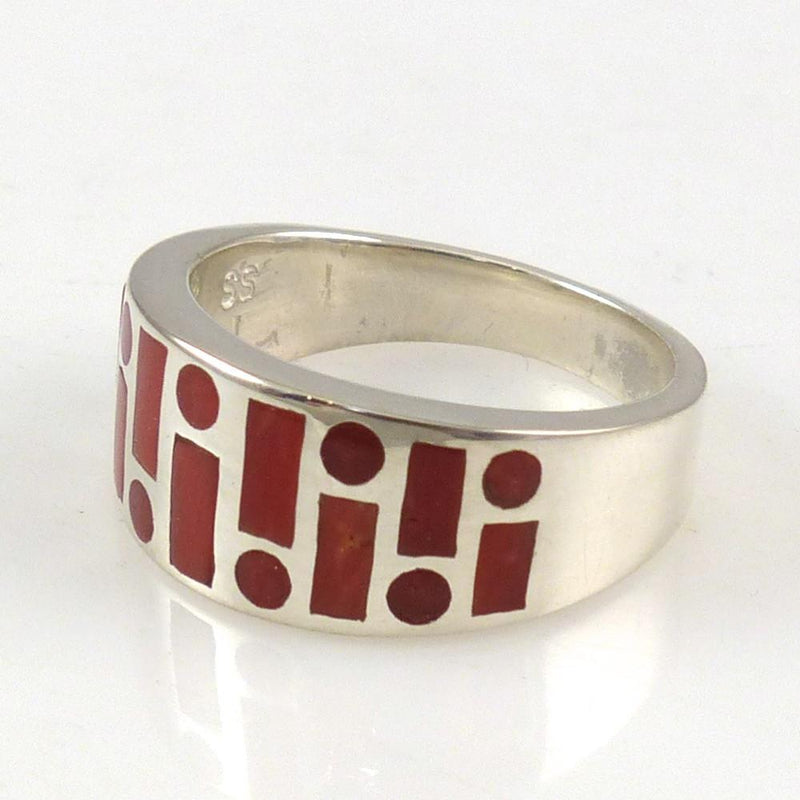 Coral Code Talker Ring - Jewelry - Tim Charley - 2