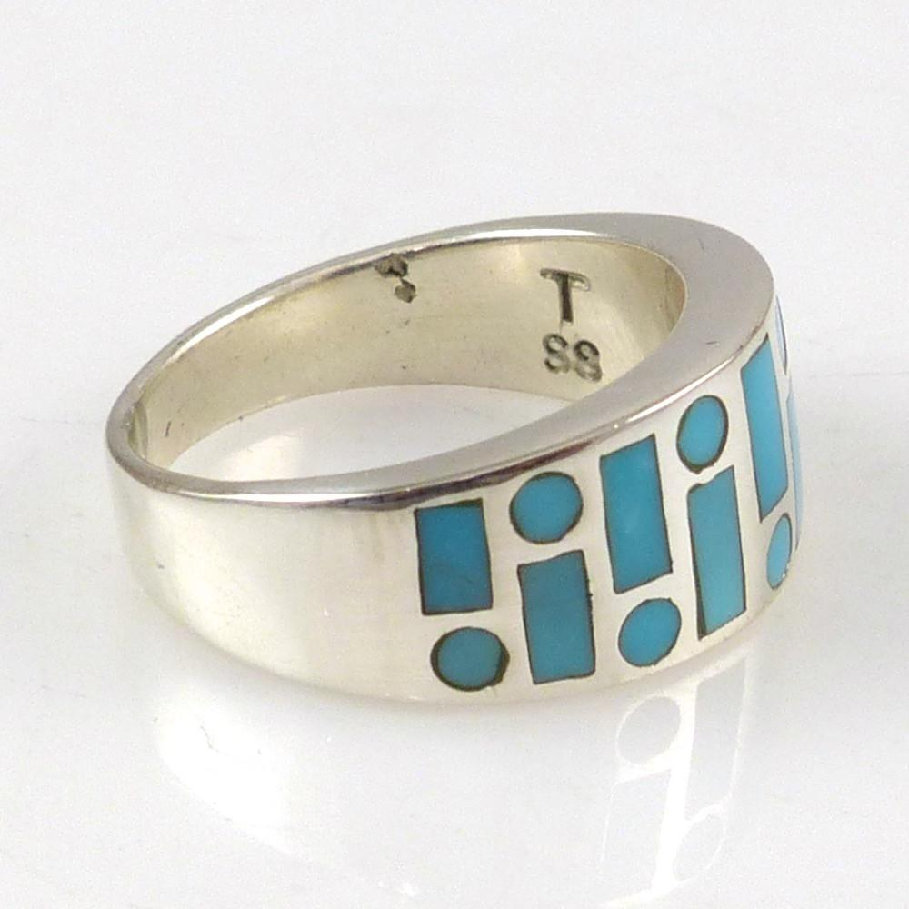 Turquoise Code Talker Ring - Jewelry - Tim Charley - 1