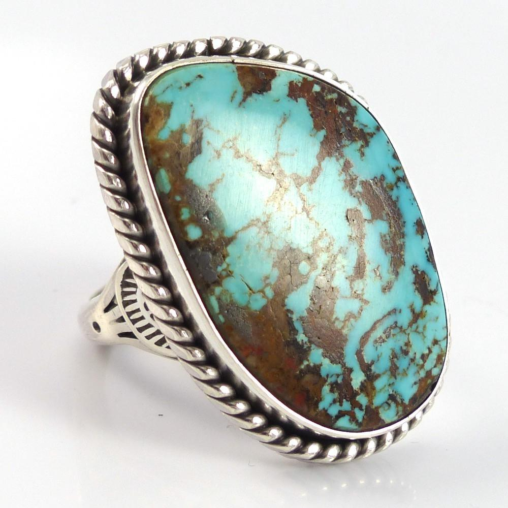 Stormy Mountain Turquoise Ring - Jewelry - Toby Henderson - 1
