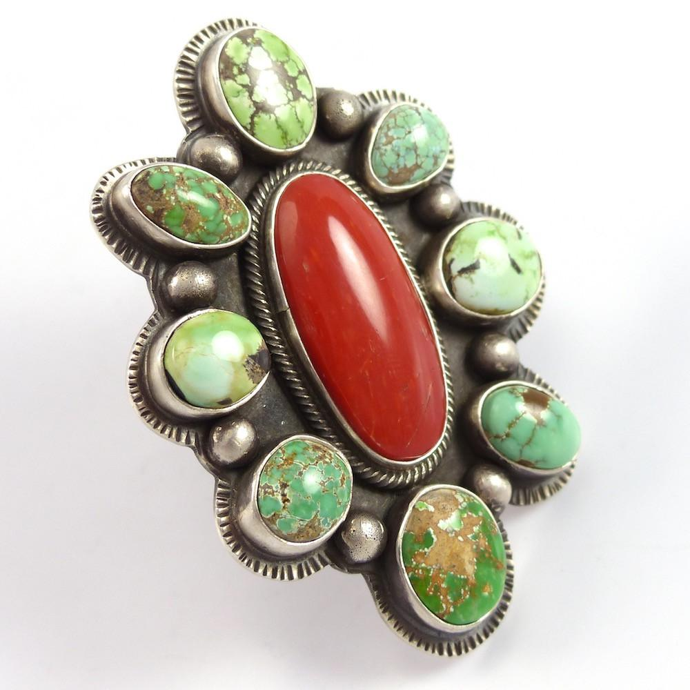 Turquoise and Coral Ring - Jewelry - Tommy Jackson - 1