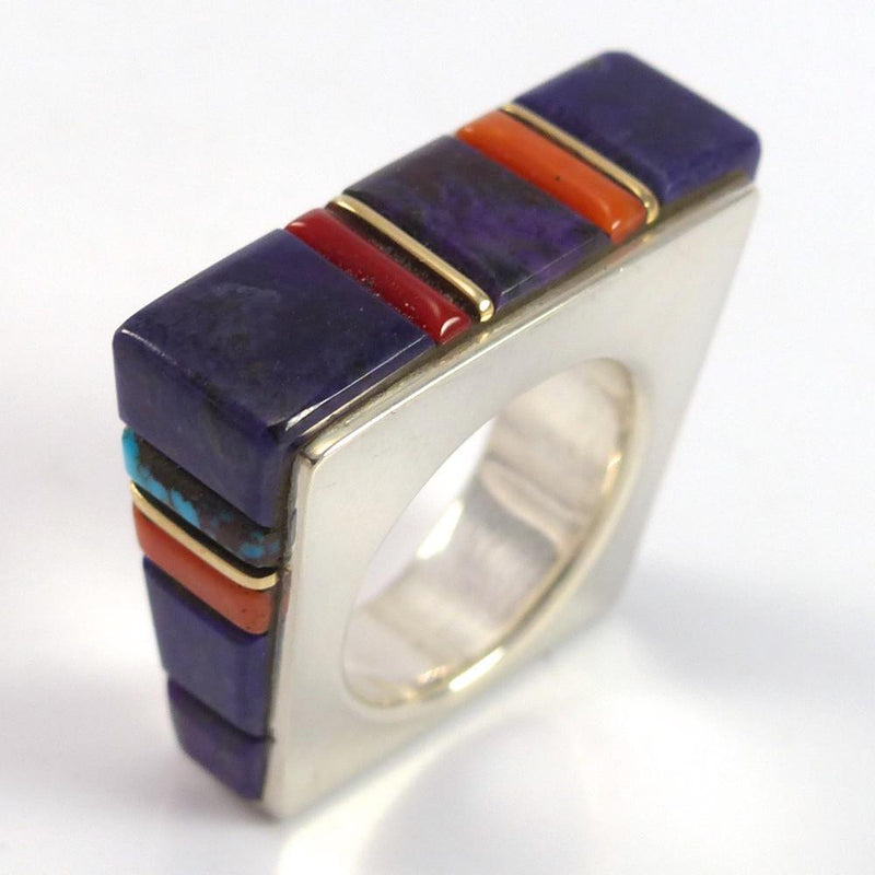 Cobble Inlaid Ring - Jewelry - Wes Willie - 2