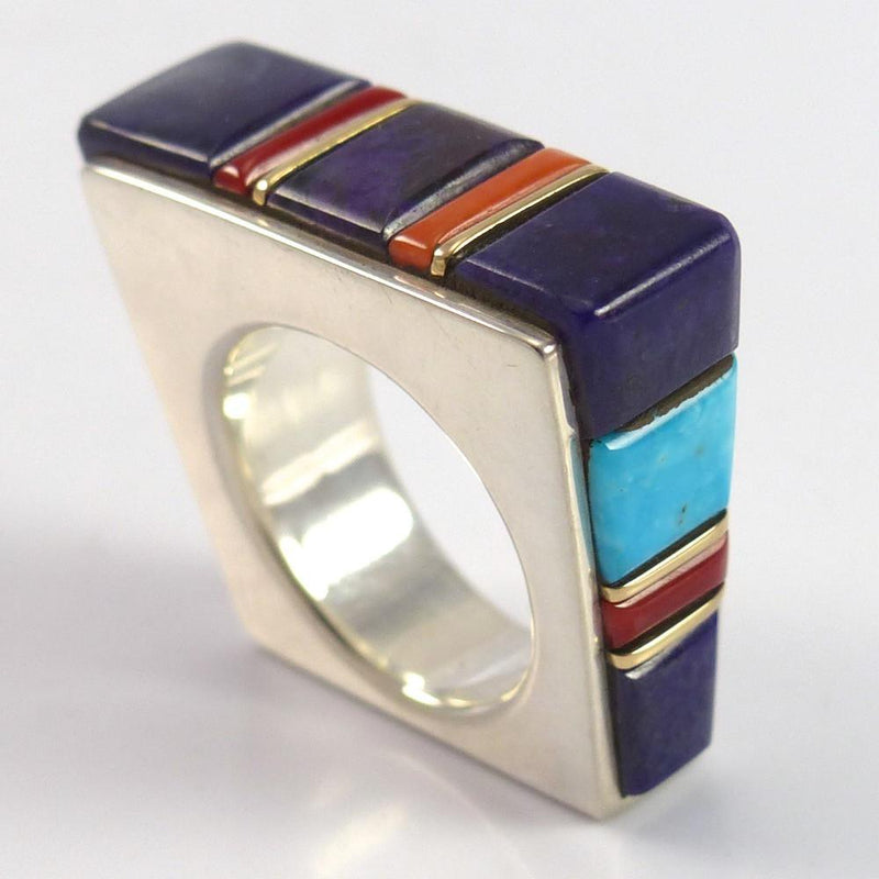 Cobble Inlaid Ring - Jewelry - Wes Willie - 1