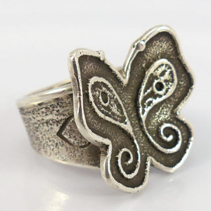 Silver Butterfly Ring - Jewelry - Joel Pajarito - 1