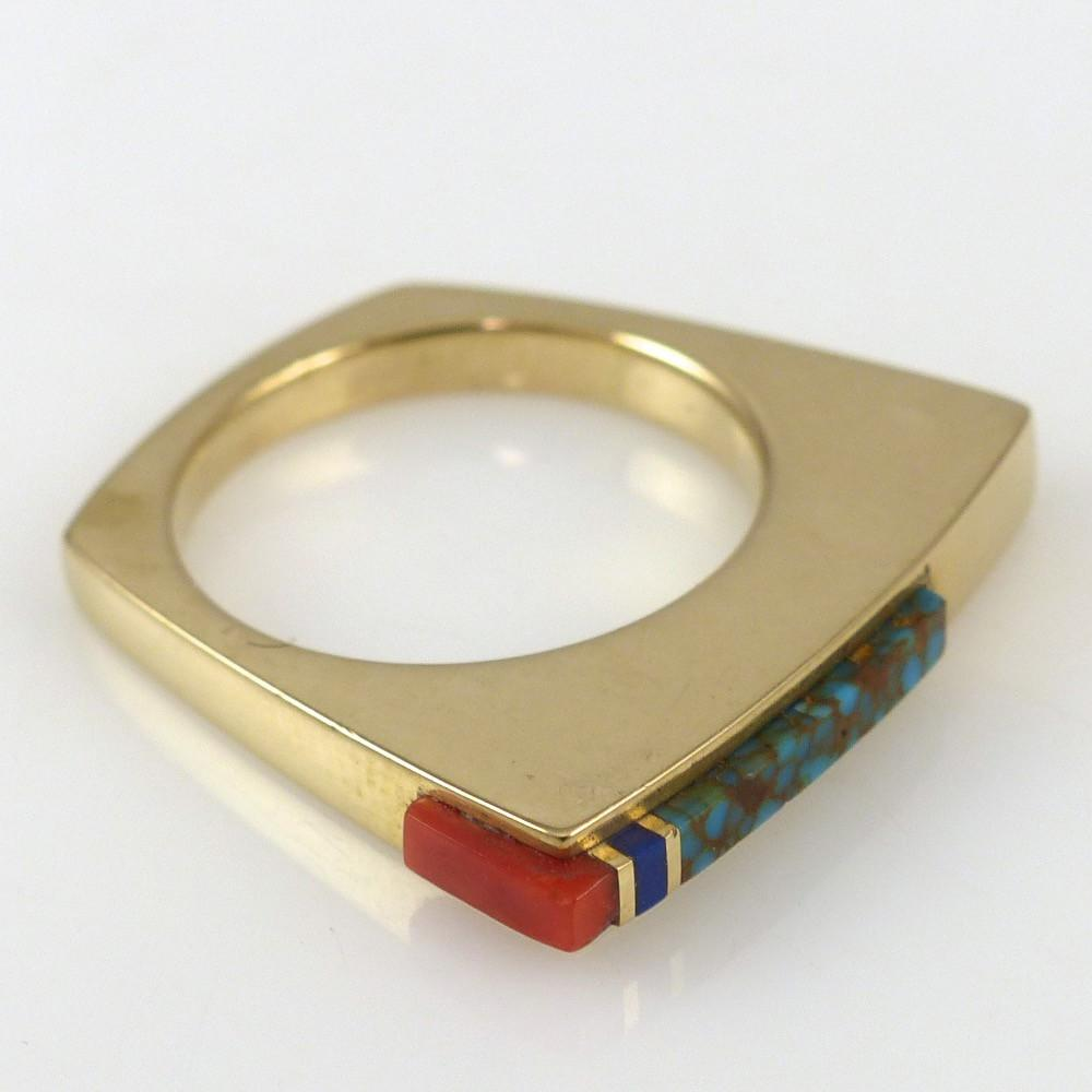 Gold Inlay Ring - Jewelry - Don Supplee - 1
