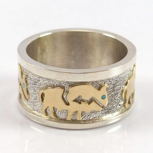 Gold on Silver Buffalo Ring - Jewelry - Robert Taylor - 1