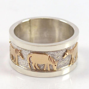 Gold on Silver Horse Ring - Jewelry - Robert Taylor - 1