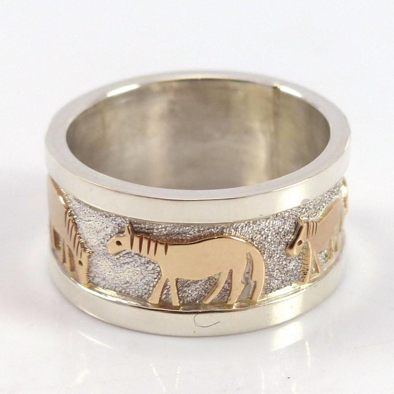 Gold on Silver Horse Ring - Jewelry - Robert Taylor - 2