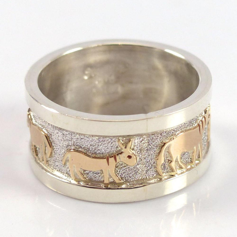 Gold on Silver Horse Ring - Jewelry - Robert Taylor - 3