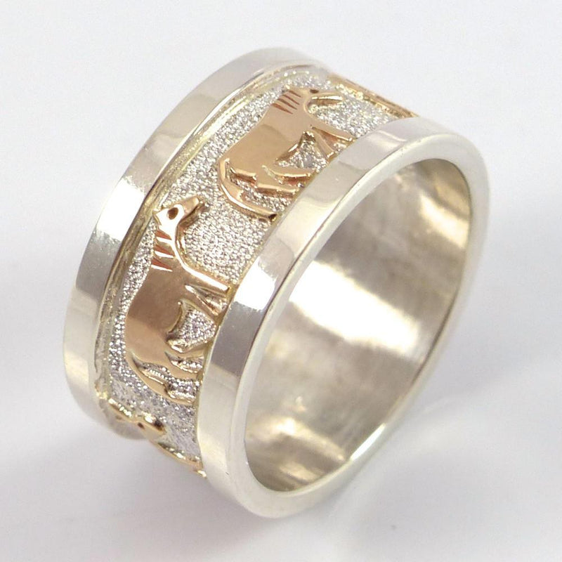 Gold on Silver Horse Ring - Jewelry - Robert Taylor - 4