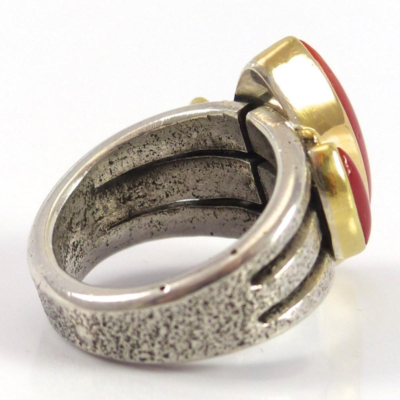 Coral and Gold Ring - Jewelry - Noah Pfeffer - 6