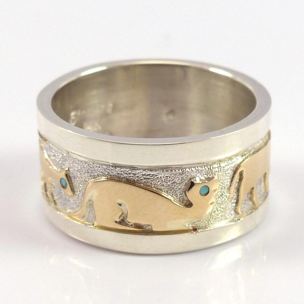Gold on Silver Cat Ring - Jewelry - Robert Taylor - 1