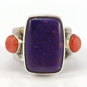 Sugilite and Coral Ring - Jewelry - Noah Pfeffer - 1