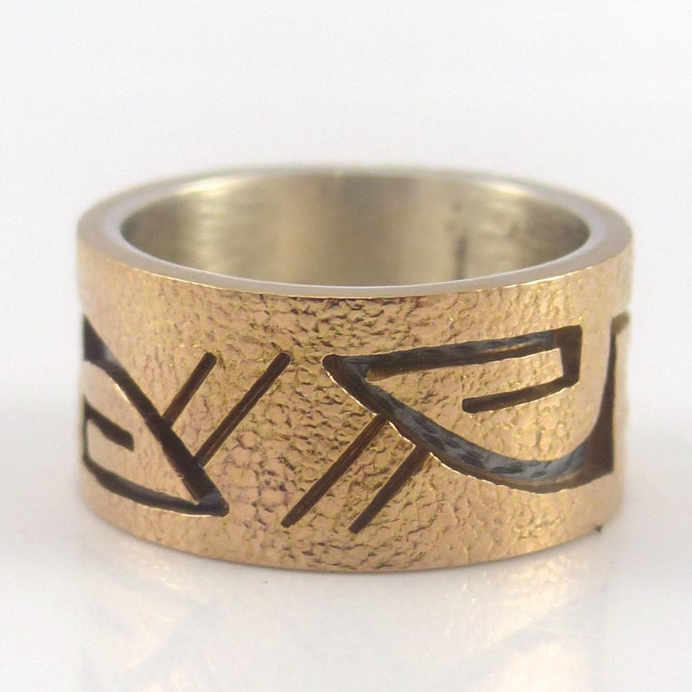 Gold on Silver Ring - Jewelry - Phil Poseyesva - 1