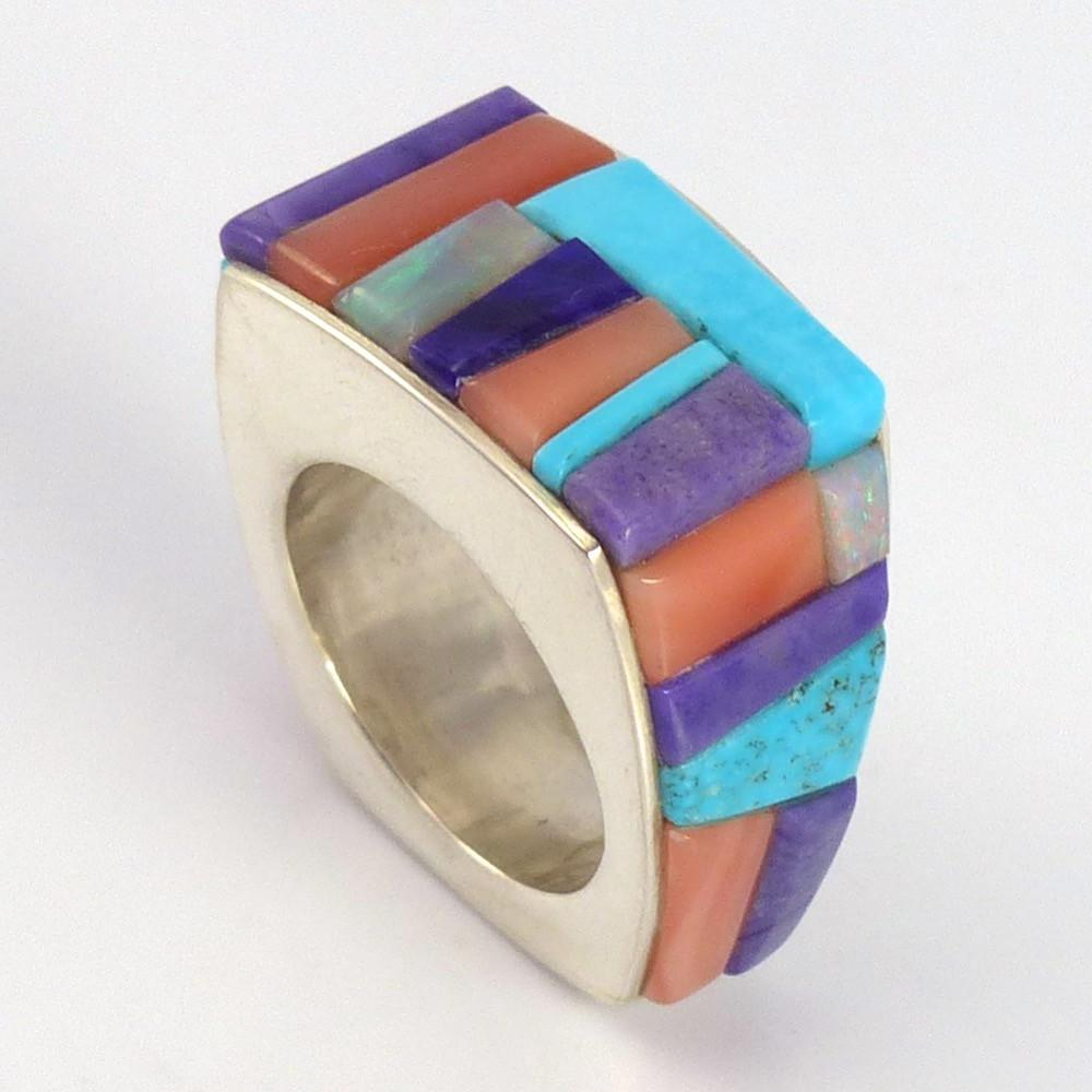 Colorful Inlay Ring - Jewelry - Noah Pfeffer - 1