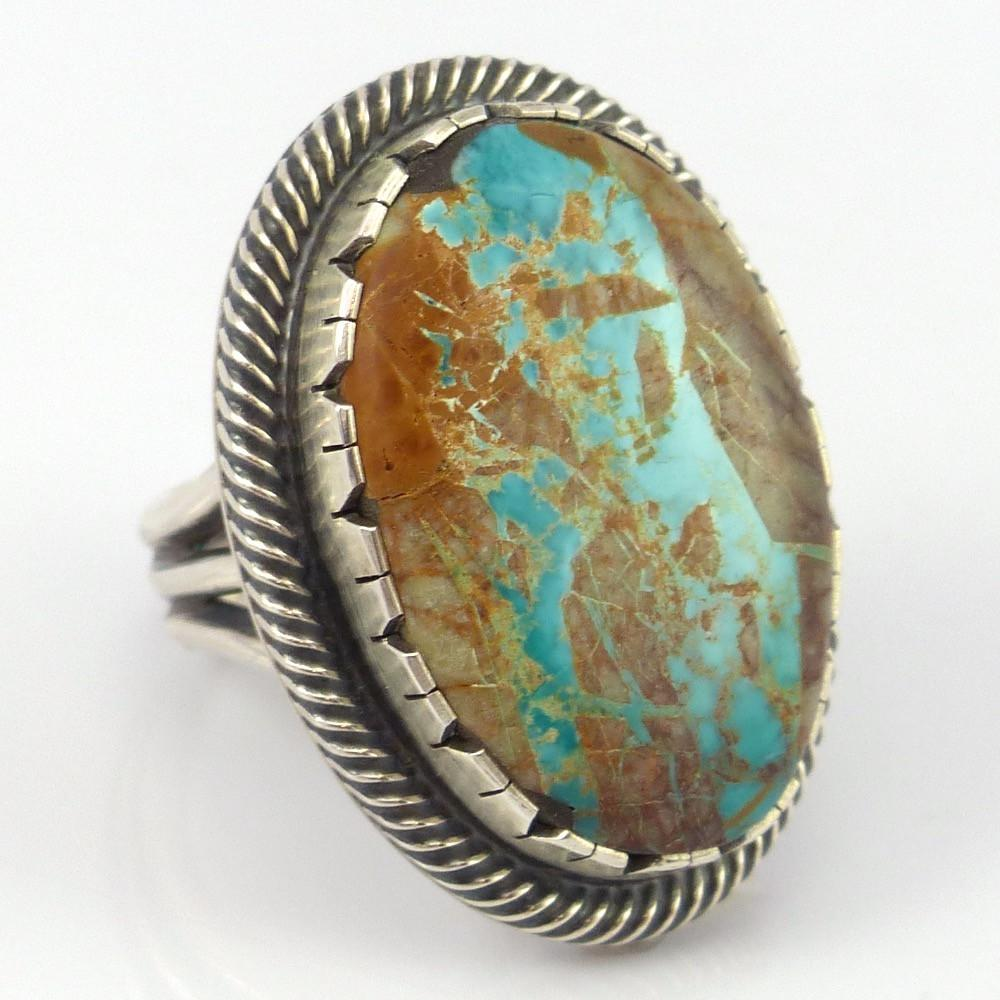 Boulder Turquoise Ring - Jewelry - Curtis Pete - 1
