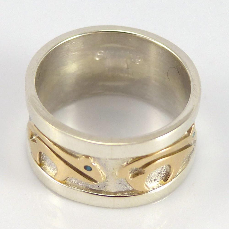 Gold on Silver Ring - Jewelry - Robert Taylor - 4