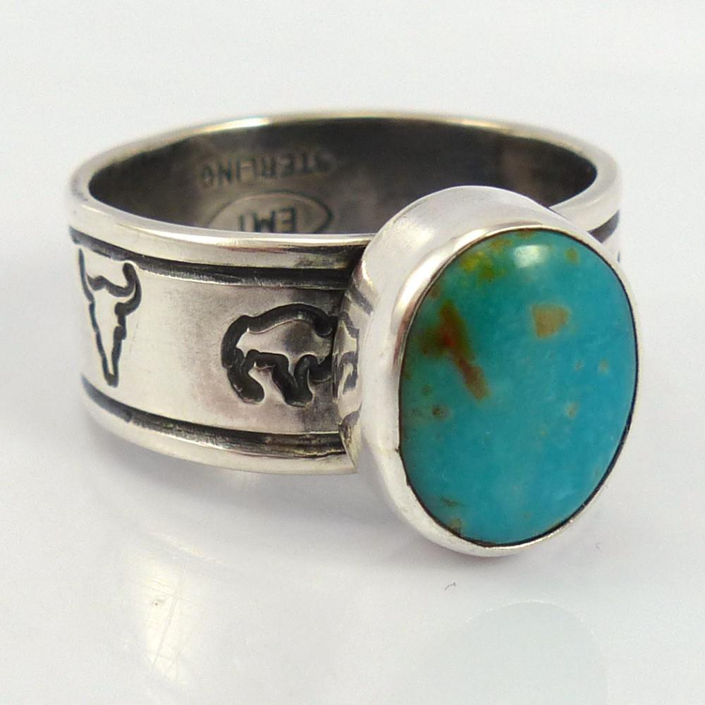 Royston Turquoise Ring - Jewelry - Mary and Everett Teller - 1