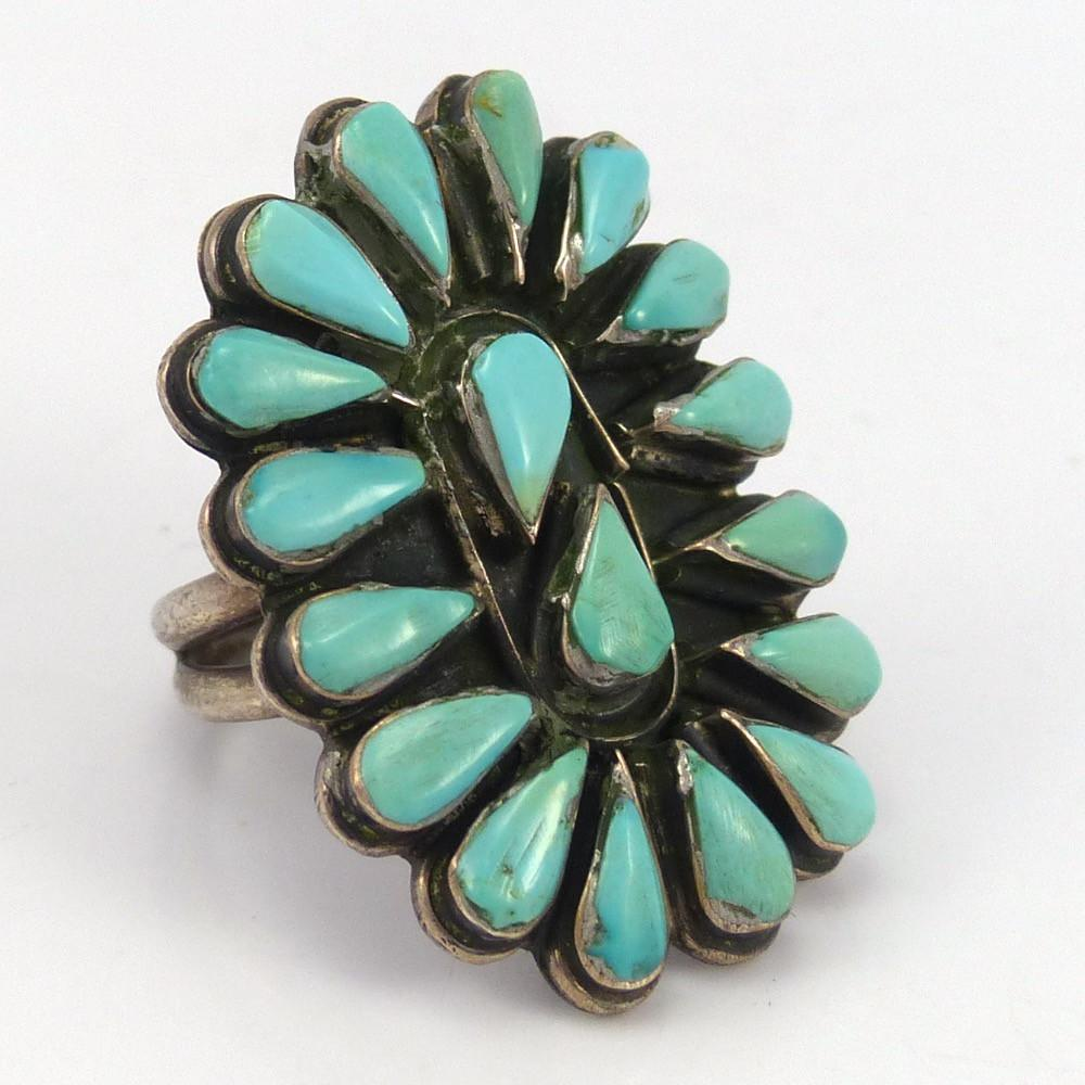 turquoise cluster ring garland s indian jewelry