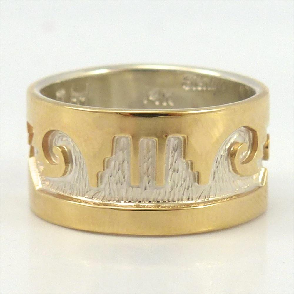 Gold on Silver Monument Valley Ring - Jewelry - Dina Huntinghorse - 1