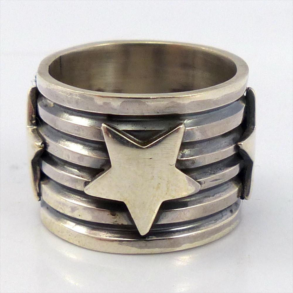 Stamped Silver Ring, Andy Cadman, Jewelry, Garland's Indian Jewelry