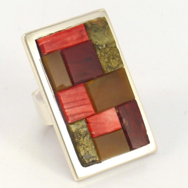 Cobbled Inlay Ring., Tommy Jackson, Jewelry, Garland's Indian Jewelry