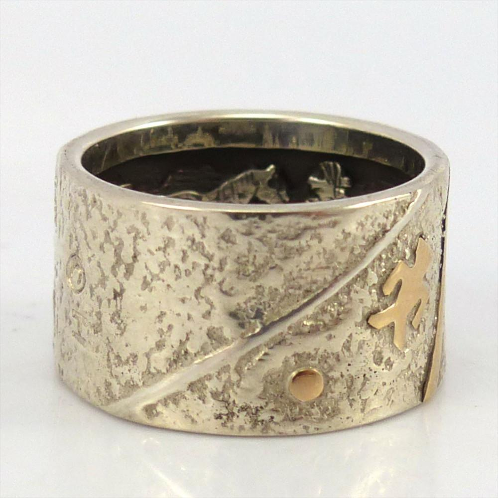 Gold on Silver Inner Beauty Ring, Cody Hunter, Jewelry, Garland's Indian Jewelry