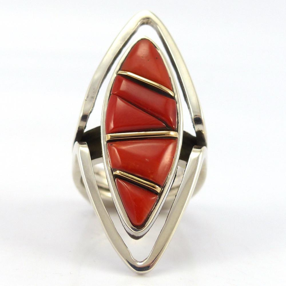 Coral Ring, Wes Willie, Jewelry, Garland's Indian Jewelry