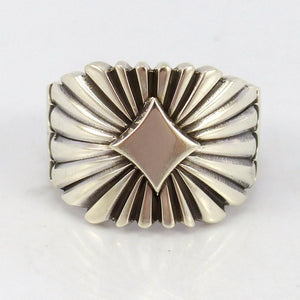 Silver Sunburst Ring, Thomas Jim, Jewelry, Garland's Indian Jewelry