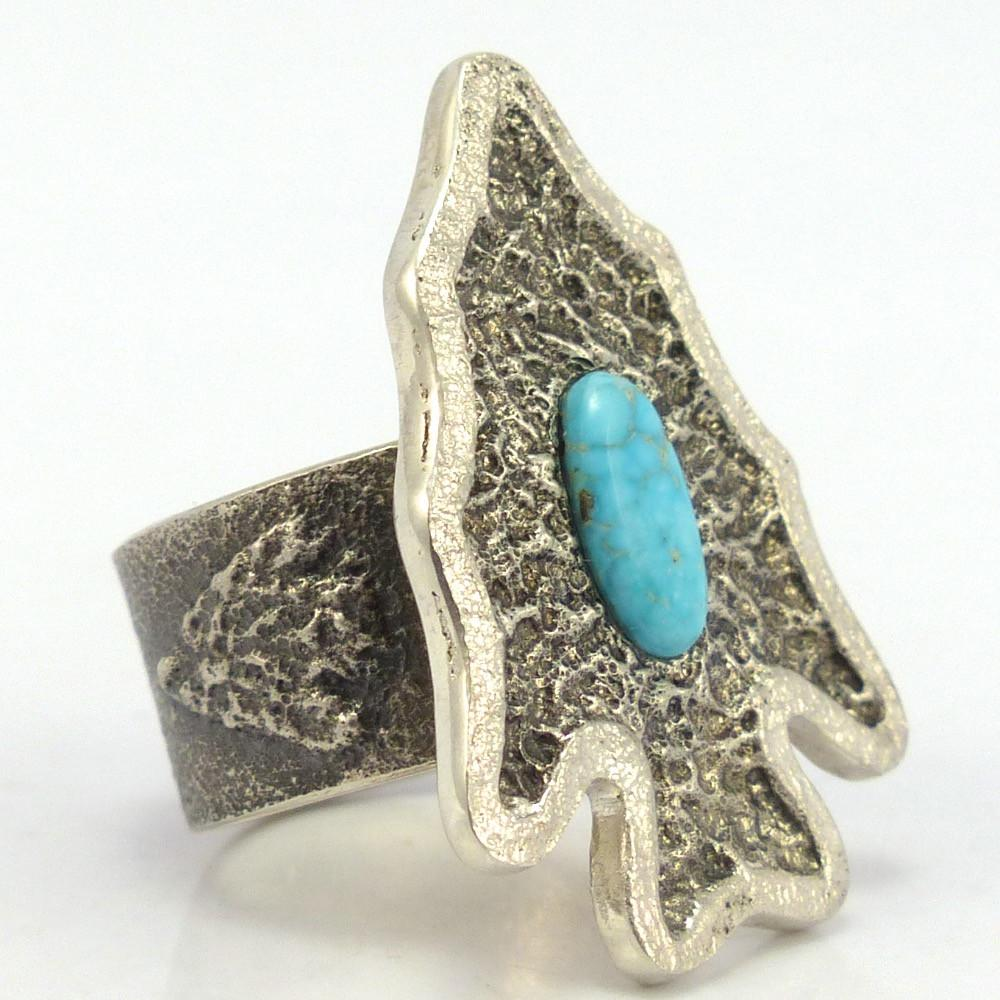 Turquoise Arrowhead Ring, Lee Begay, Jewelry, Garland's Indian Jewelry