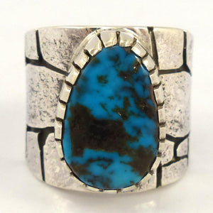 Red Mountain Turquoise Ring, Kee Yazzie, Jewelry, Garland's Indian Jewelry