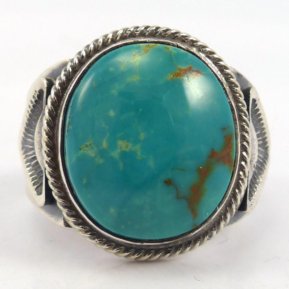 Royston Turquoise Ring, Leon Martinez, Jewelry, Garland's Indian Jewelry