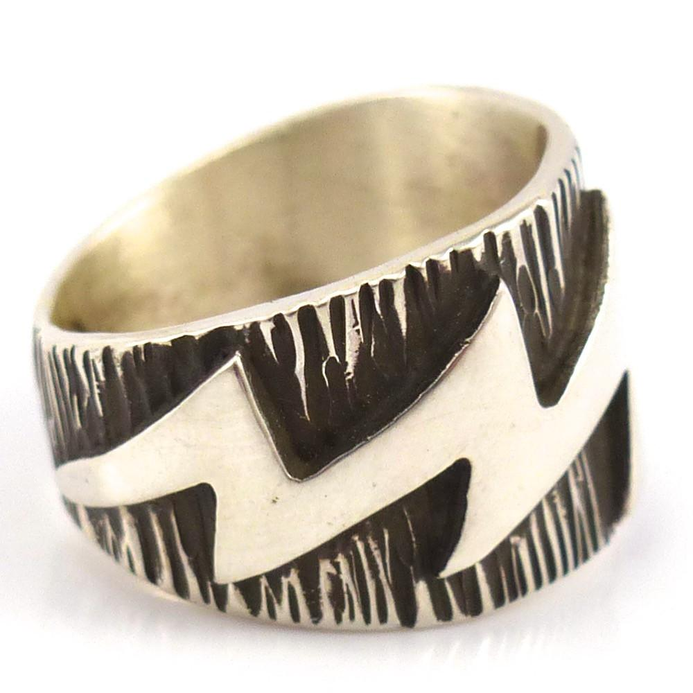 Lightning Ring, Kee Yazzie, Jewelry, Garland's Indian Jewelry