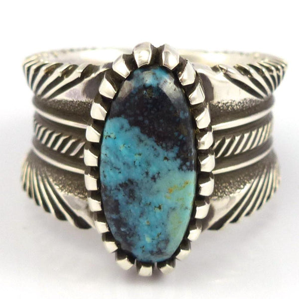 Bisbee Turquoise Ring, Ron Bedonie, Jewelry, Garland's Indian Jewelry