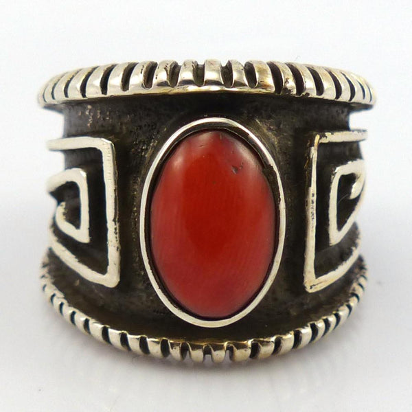 Coral Ring, Edison Cummings, Jewelry, Garland's Indian Jewelry