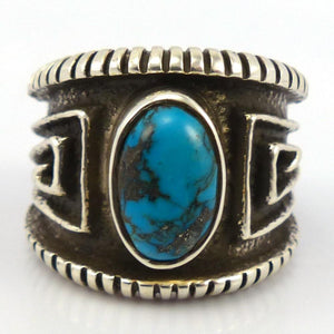 Bisbee Turquoise Ring, Edison Cummings, Jewelry, Garland's Indian Jewelry