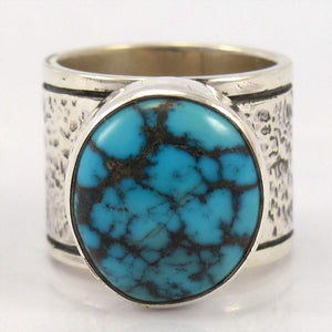 Indian Mountain Turquoise Ring, Toby Henderson, Jewelry, Garland's Indian Jewelry