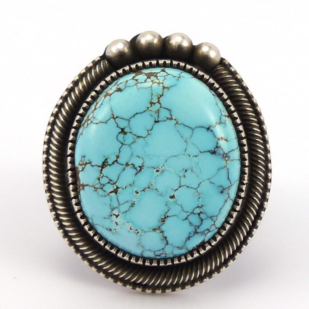 Number Eight Turquoise Ring, Sammie Kescoli Begay, Jewelry, Garland's Indian Jewelry