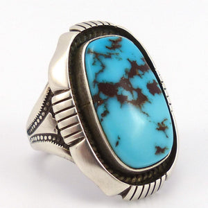 Burnham Turquoise Ring, Calvin Martinez, Jewelry, Garland's Indian Jewelry