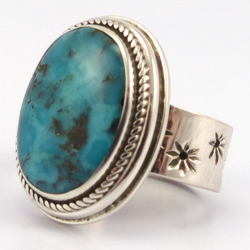 Persian Turquoise Ring, Stewart Yellowhorse, Jewelry, Garland's Indian Jewelry