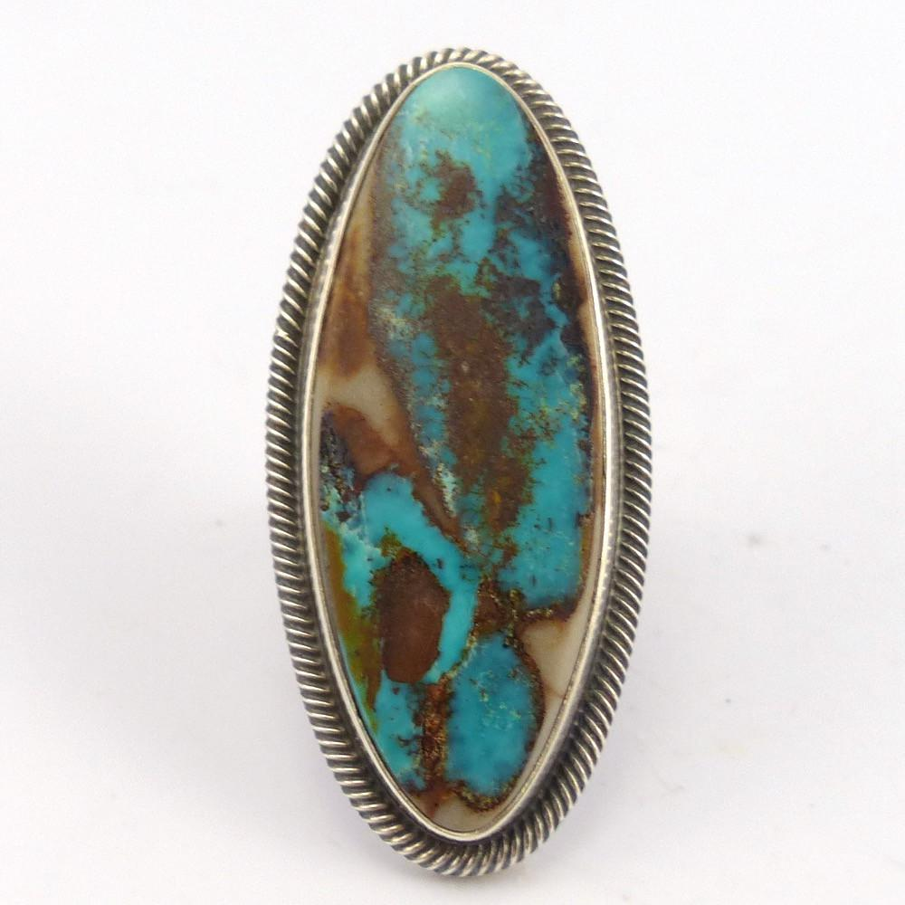 Pilot Mountain Turquoise Ring, Curtis Pete, Jewelry, Garland's Indian Jewelry