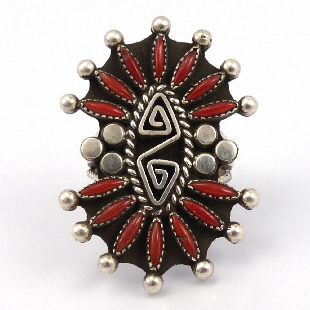 Coral Ring, Billy Betoney, Jewelry, Garland's Indian Jewelry